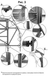 схема сборки теплицы